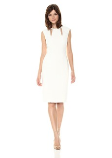 Tahari by Arthur S. Levine Women's Sleeveless Sheath Dress With Keyhole Accents