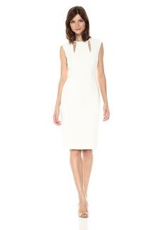 Tahari by Arthur S. Levine Women's Sleeveless Sheath Dress With Keyhole Accents