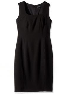 Tahari by Arthur S. Levine Women's Sleeveless Square Neck Sheath Dress