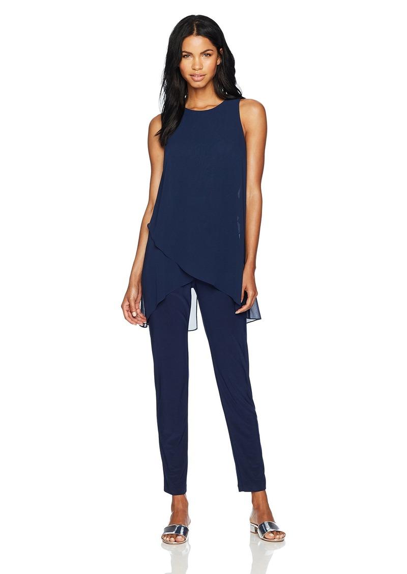Tahari by Arthur S. Levine Women's Sleevless Chiffon Jersey Jumpsuit