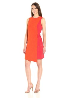 Tahari by Arthur S. Levine Women's Sleevless Color Block Dress