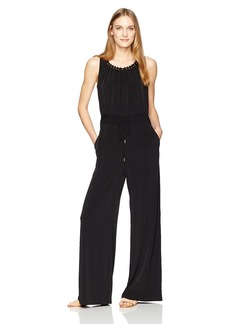 Tahari by Arthur S. Levine Women's Sleevless Matte Jersey Shired Jumpsuit