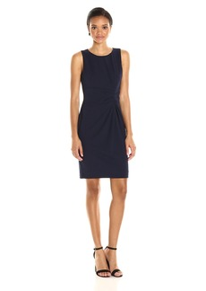 Tahari by Arthur S. Levine Women's Sleevless Scuba Crepe Side Roche Dress