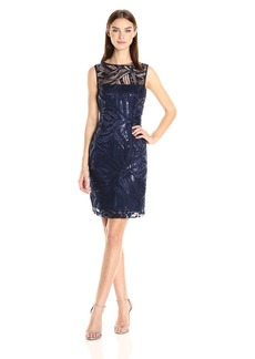 Tahari by Arthur S. Levine Women's Sleevless Sequin Lace Sheath Dress