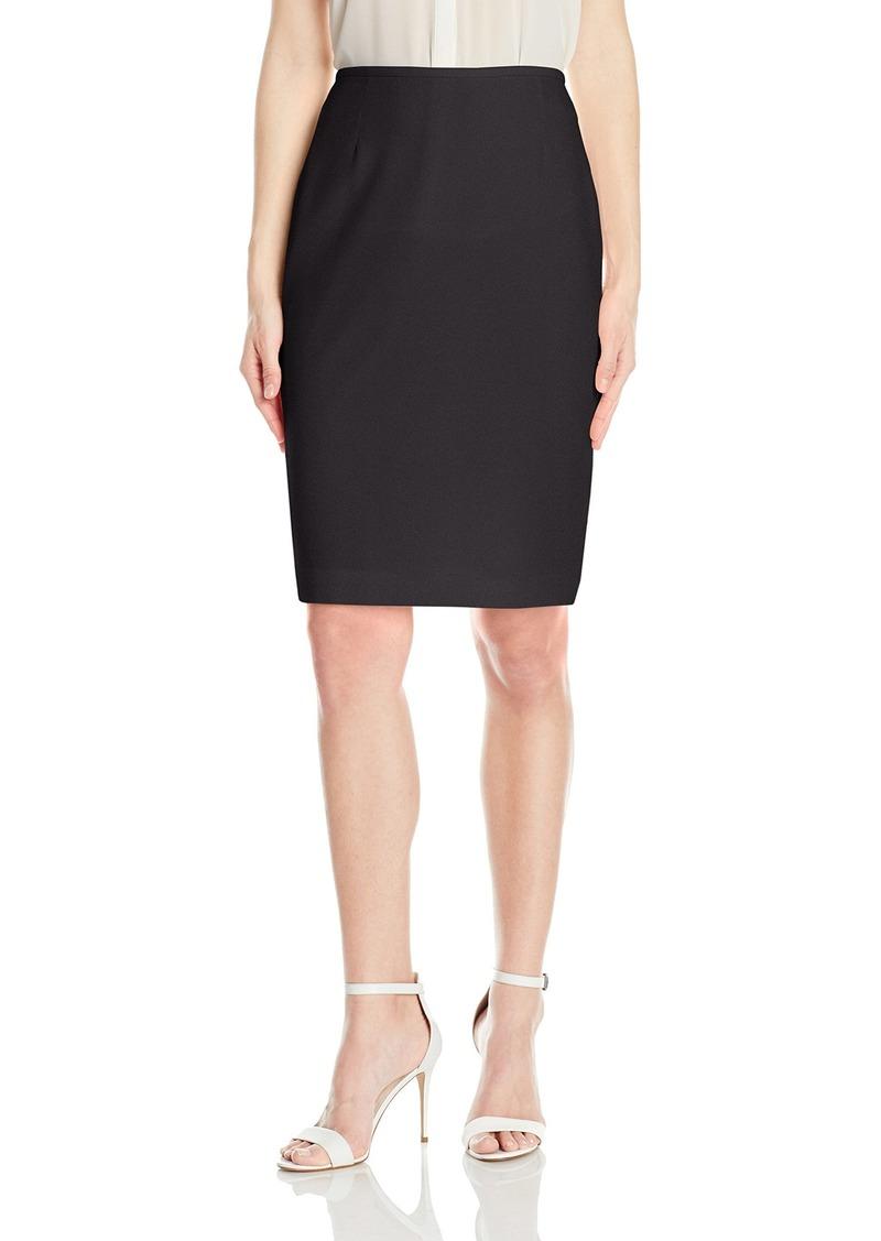 Tahari by Arthur S. Levine Women's Slim Fit Crepe Pencil Skirt