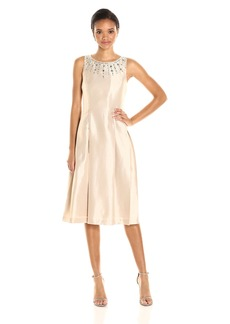Tahari by Arthur S. Levine Women's T Length Necklace Dress