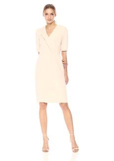 Tahari by Arthur S. Levine Women's Three Quarter Sleeve Sheath Dress