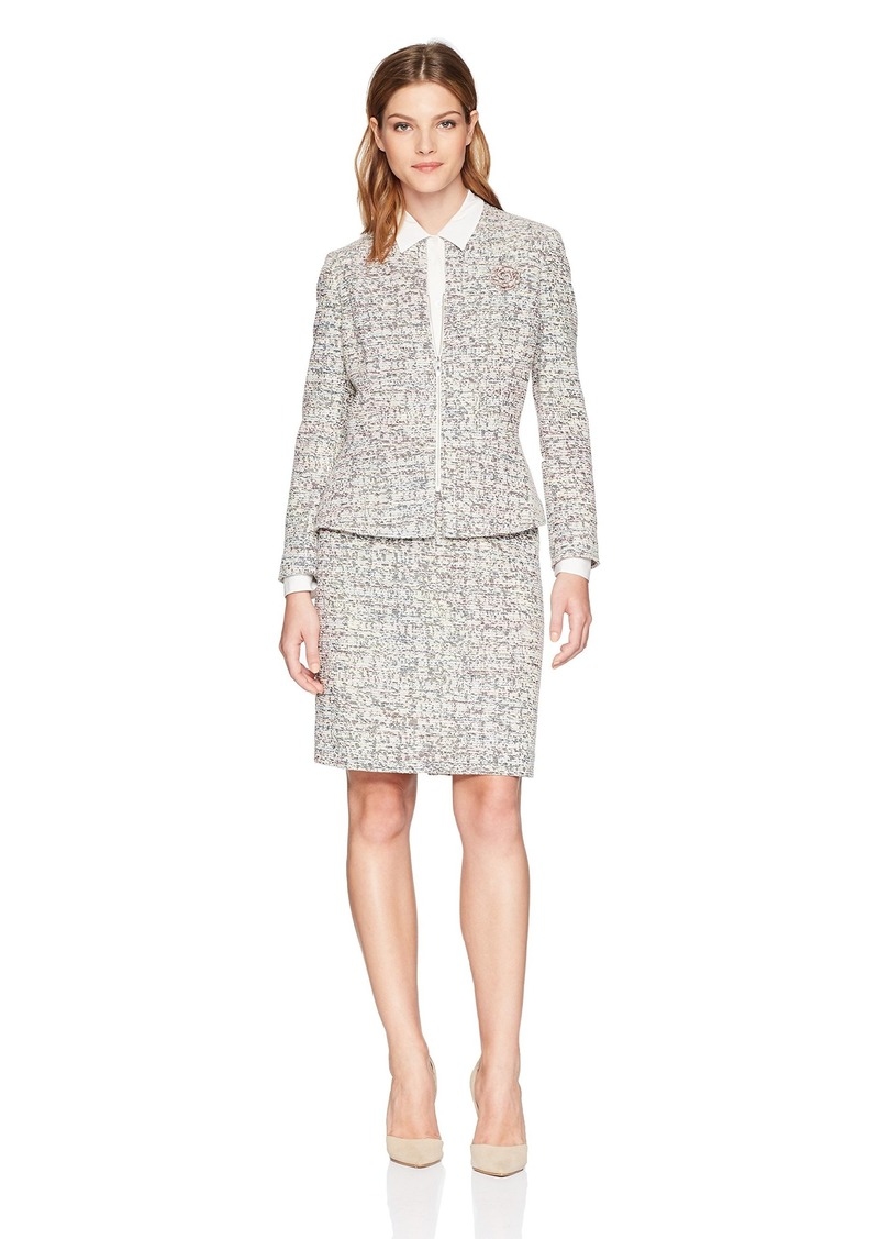 246c122bc Tahari Tahari by Arthur S. Levine Women's Tweed Long Sleeve Skirt ...