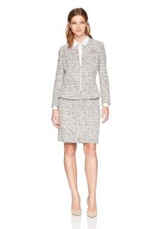 Tahari by Arthur S. Levine Women's Tweed Long Sleeve Skirt Suit