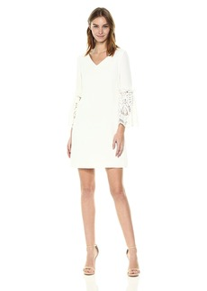 Tahari by Arthur S. Levine Women's V-Neck Shift Three Quarter Sleeve Dress
