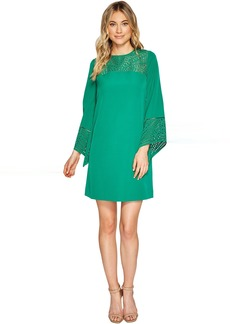 3/4 Sleeve Cut Out Detail Shift Dress