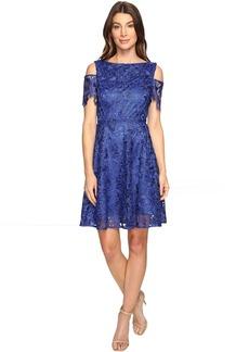 Tahari by ASL Cold Shoulder Lace A-Line Dress