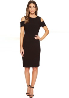 Tahari Cold Shoulder Sheath Dress