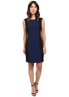 Tahari by ASL Color Block Sheath with Accent Piping