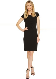 Tahari Crepe Cap Sleeve Sheath Dress
