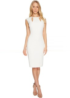 Tahari Double Notch Neck Sheath