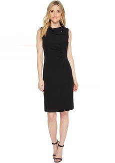 Envelope Neck Sheath Dress