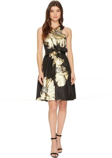 Tahari Floral Wrap-Bodice Party Dress