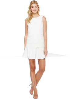 Tahari Flounced Hem Lace Dress