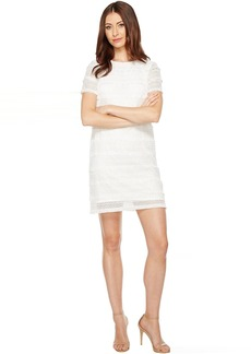 Tahari by ASL Fringe Lace Shift Dress
