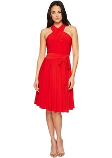 Tahari by ASL Halter Neck Jersey A-Line Dress