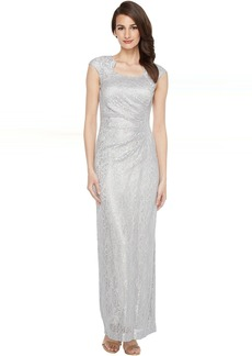 Tahari by ASL Horseshoe Neck Lace Gown