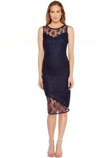 Tahari by ASL Illusion Bodice Lace Sheath Dress