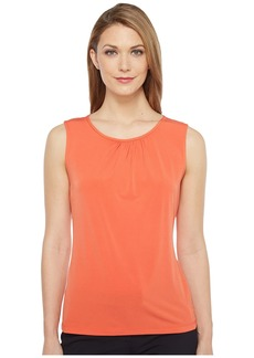 Tahari by ASL Jersey Blouse w/ Keyhole Back