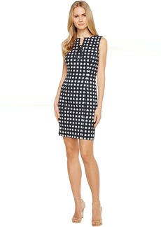 Lace-Up Sheath Dress