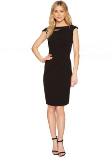 Tahari Neck Slash Sheath Dress