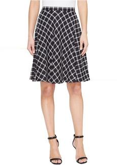 Tahari by ASL Plaid A-Line Skirt