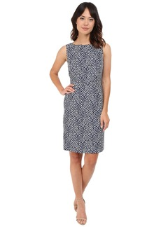 Tahari by ASL Pleat Neck Sheath Dress w/ Cut Out Straps