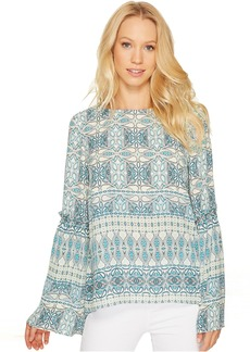 Tahari by ASL Printed Long Sleeve Blouse