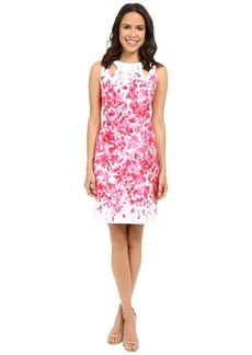 Tahari by ASL Scuba Floral Sheath Dress w/ Shoulder Cut Outs