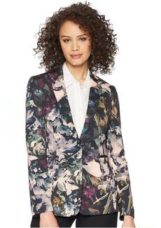 Tahari Scuba One-Button Jacket