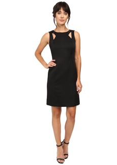 Tahari by ASL Shoulder Cut Out Sheath in Faille