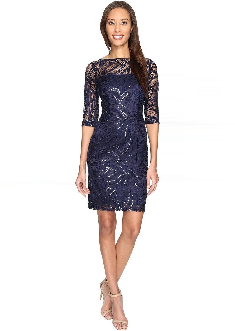 992480d3c41a Tahari Tahari by ASL Stretch Sequin Lace Sheath Dress