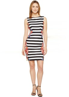 Stripes and Florals Sheath Dress