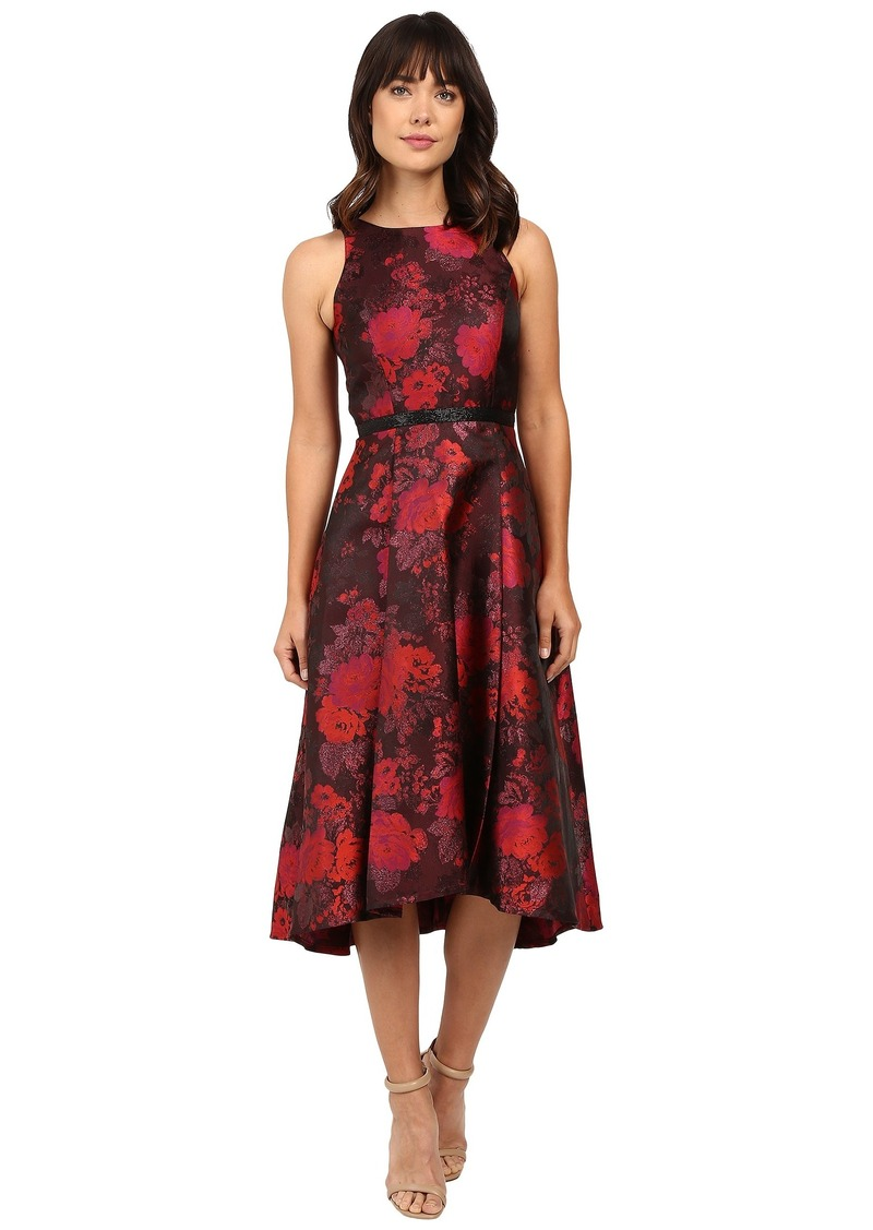 Tahari by ASL Tea-Length Metallic Jacquard Dress