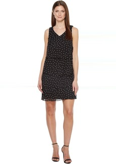Tiered Chiffon Dot Dress