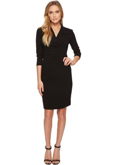 Tahari V-Neck Sleeved Sheath Dress
