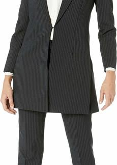 Tahari by ASL Women's Pinstripe Topper Jacket Pants Suit