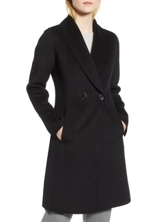 Tahari Caleigh Fitted Wool Blend Coat