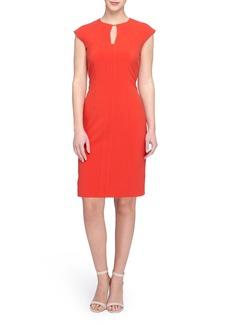 Tahari Cap Sleeve Dress (Regular & Petite)