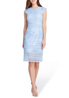 Tahari Cap Sleeve Lace Sheath Dress (Regular & Petite)