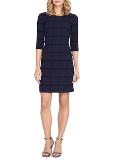 Tahari Check Sheath Dress (Regular & Petite)