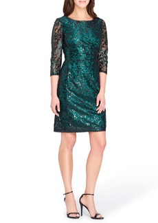 Tahari Chemical Lace Sheath Dress
