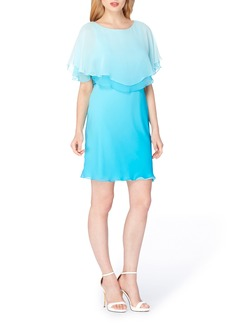 Tahari Chiffon Flounce Dress
