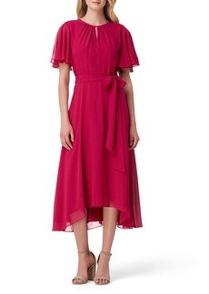 Tahari Chiffon Midi Dress