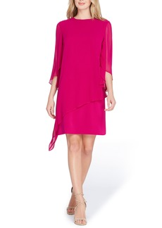Tahari Chiffon Overlay Shift Dress
